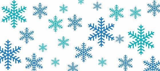 Blue snowflake shapes