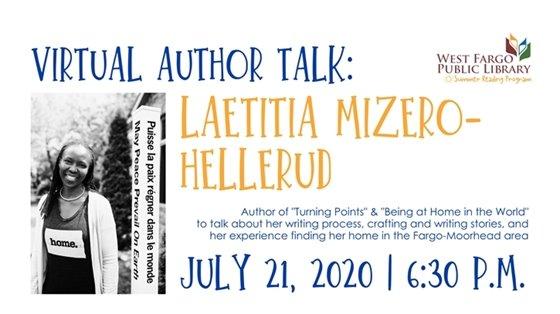 Virtual Author Talk: Laetitia Mizero- Hellerud
