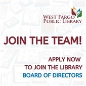Join the team! Apply now to join the library board of directors.