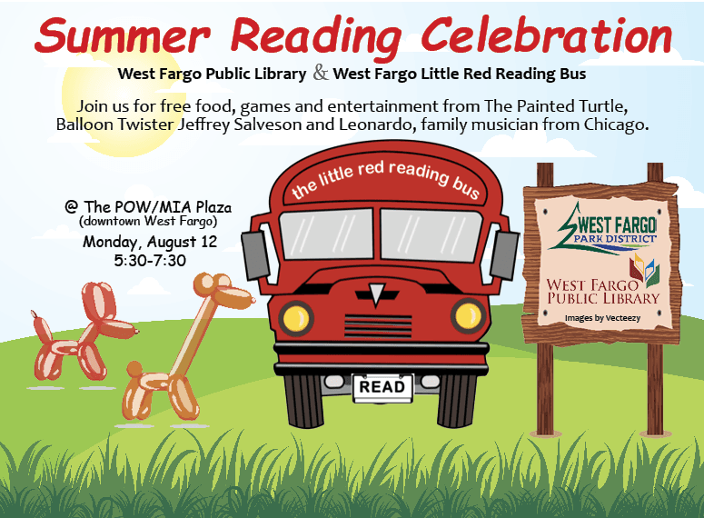 Red Reading Bus 2019 Summer Celebration