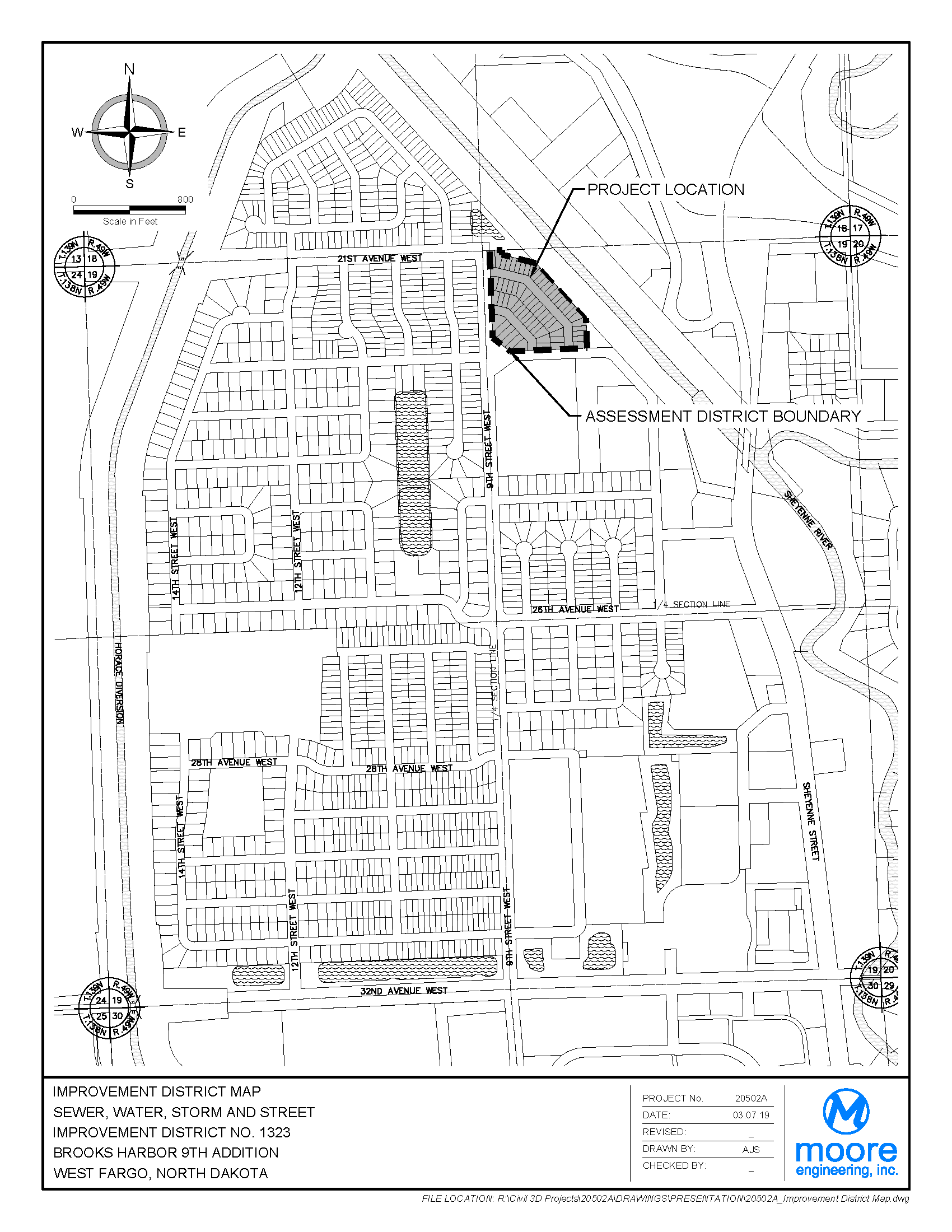 District No. 1323 Brooks Harbor Ninth Addition Assessment District Boundary Map