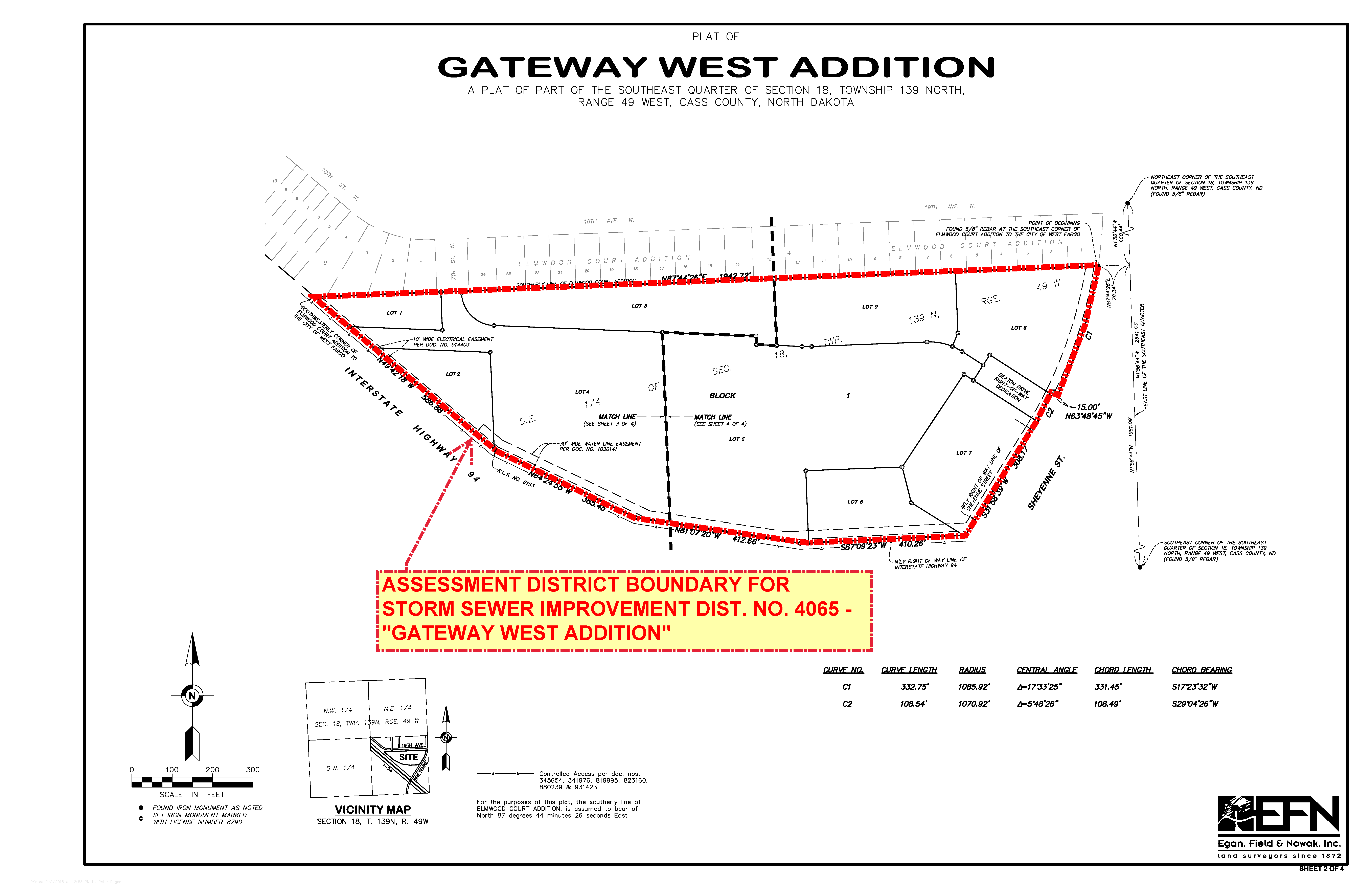 District No. 4065 Gateway West Additional Assessment District Boundary Map