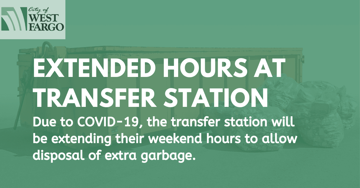 Extended hours at transfer station