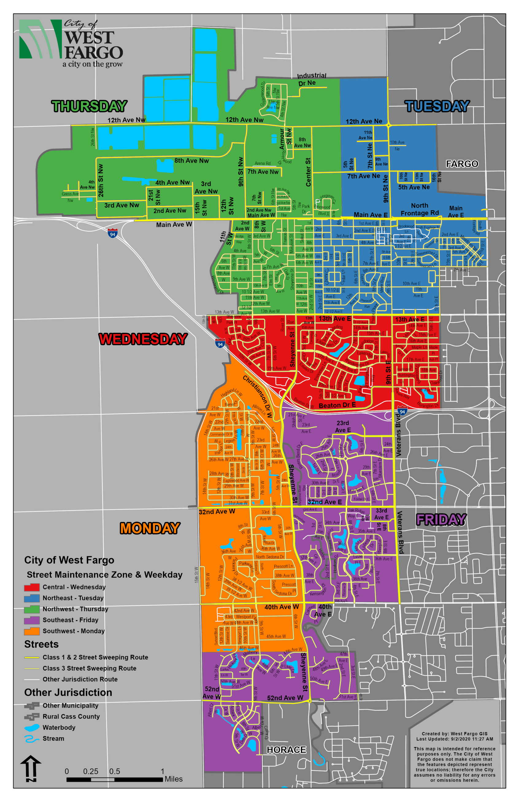Street Maintenance Zones