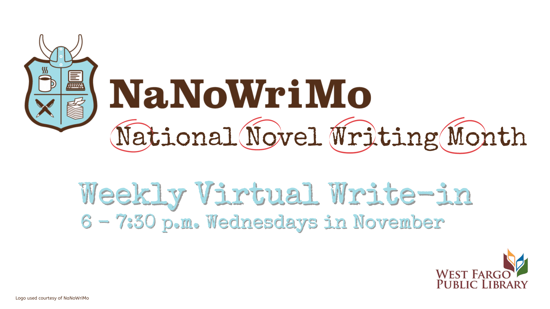 NaNoWriMo Weekly Virtual Write-in