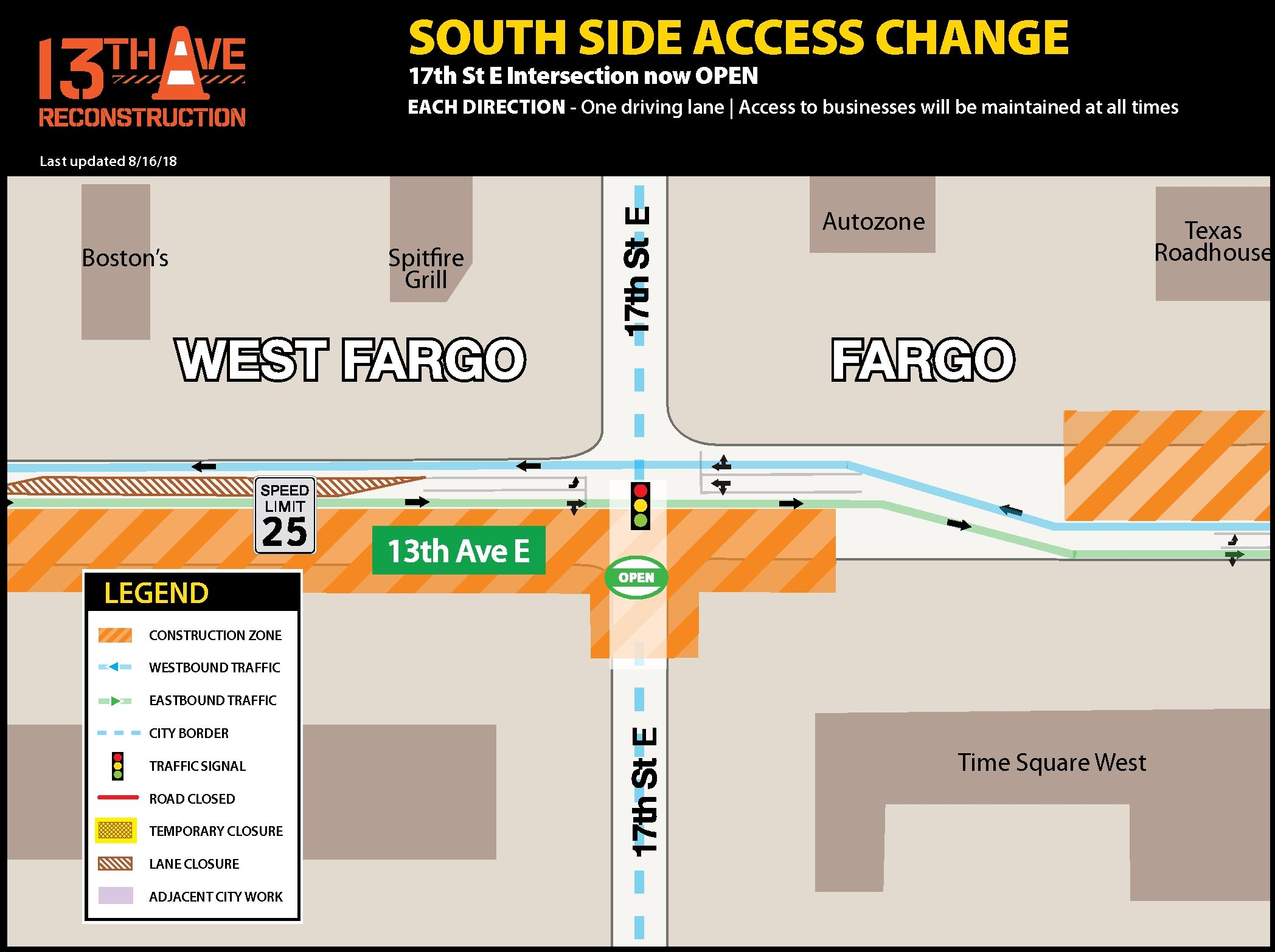 17th St. E. intersection now open
